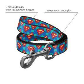 "Waudog Nylon Dog Leash, ""Superman Logo"" Design (Width 15 Mm, Length 122 cm)"