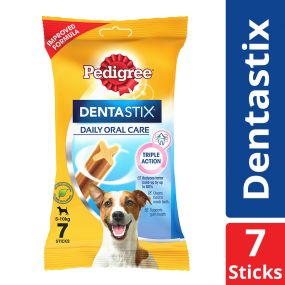Pedigree Dentastix Small Breed (5-10 kg) Oral Care Dog Treat Weekly Pack (7 Sticks) - 110 gm