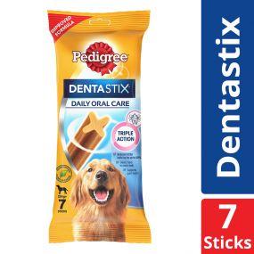 Pedigree Dentastix Large Breed (25 kg+) Oral Care Dog Treat Weekly Pack (7 Sticks) - 270 gm