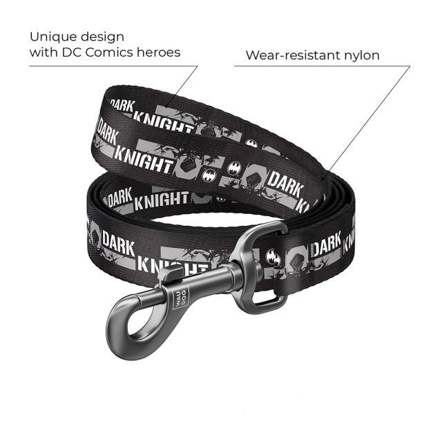 "Waudog Nylon Dog Leash -""Dark Knight"" Design (Width 25 Mm, Length 122 cm)"
