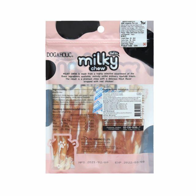 Dogaholic Milky Chew Chicken Stick Dog Treat - 10 pieces