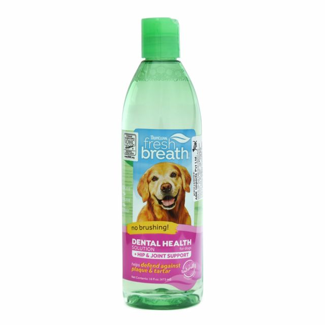 Tropiclean Fresh Breath Hip & Joint Water Additive For Dog - 473 ml