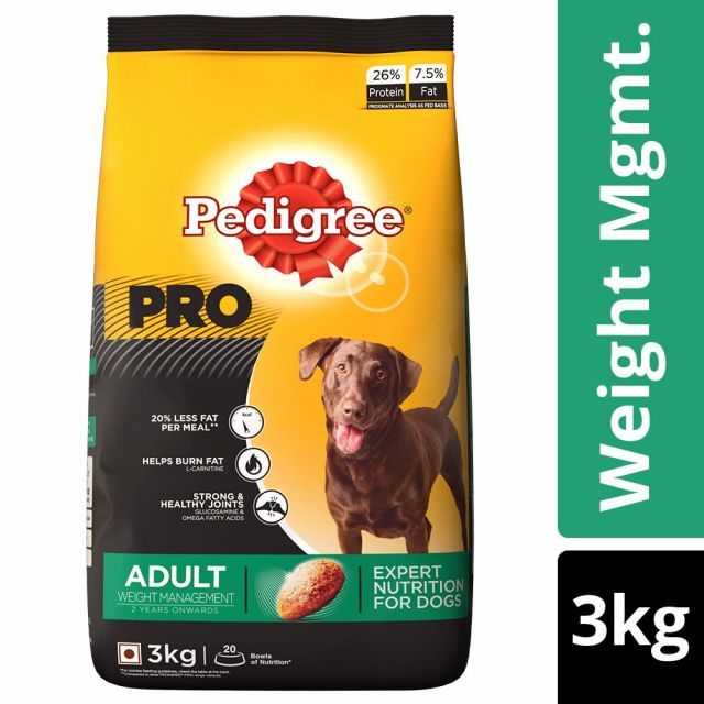 Pedigree PRO Expert Nutrition Adult Dry Dog Food Weight Management (+2 Years) - 3 kg