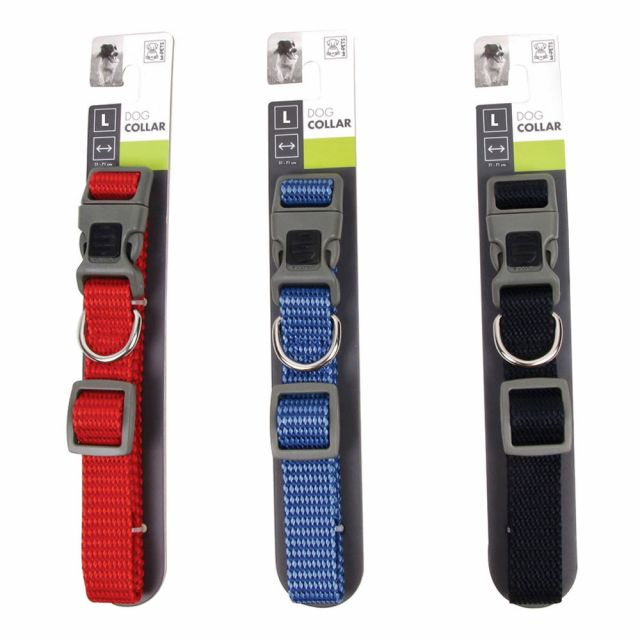 M-Pets Sportline Dog Collar Small -Assorted Colors