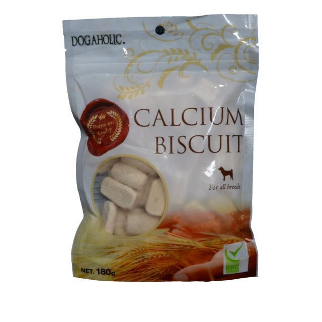 Dogaholic Calcium Biscuit For All Breeds Dog Treat - 180 gm