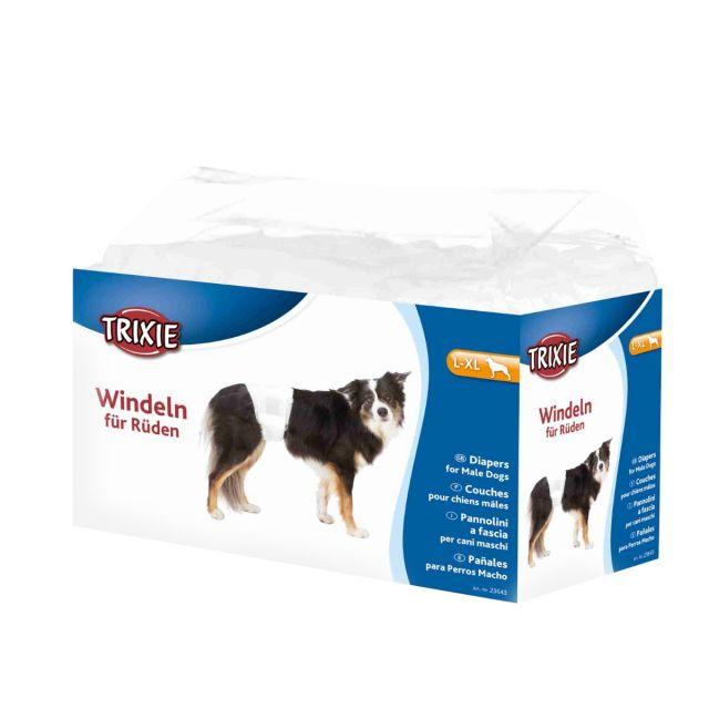 Trixie Diapers for Male Dogs, Disposable, L-XL, 60-80cm, 12pcs