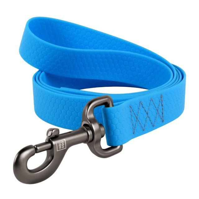 Waudog Soft And Durable Waterproof Dog Lead (Width 20 Mm, Length 183 cm) Blue