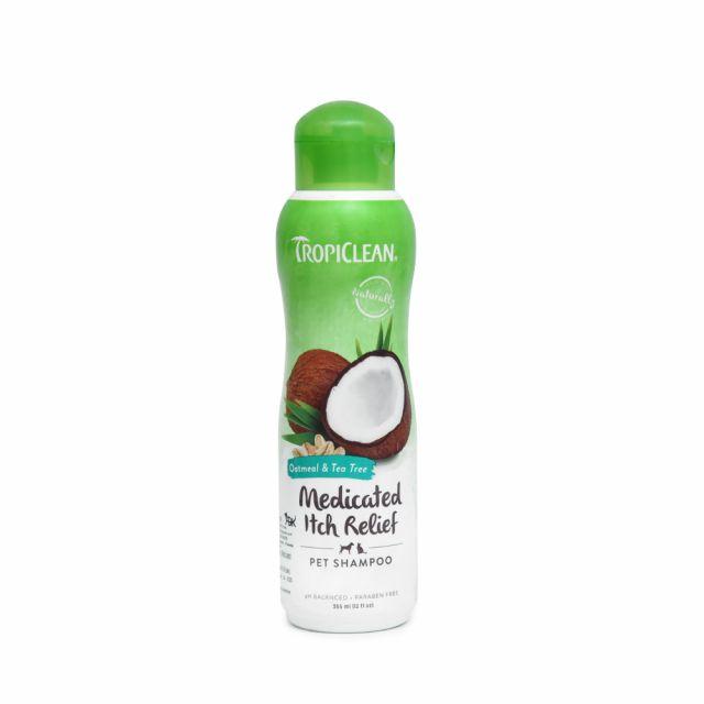 Tropiclean Oatmeal & Tea Tree Dog Shampoo - 355 ml