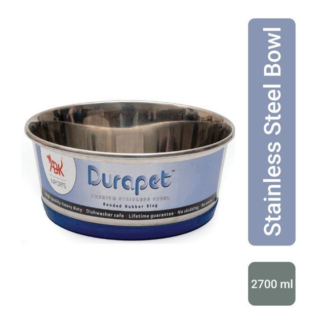 Durapet Durapet Bowl with Silicone Bonding at Bottom, 2700 ml NEW