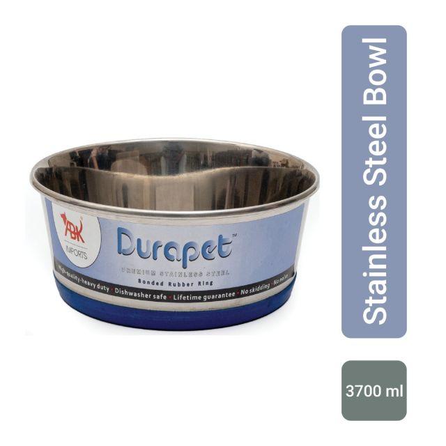 Durapet Durapet Bowl with Silicone Bonding at Bottom, 3700 ml NEW