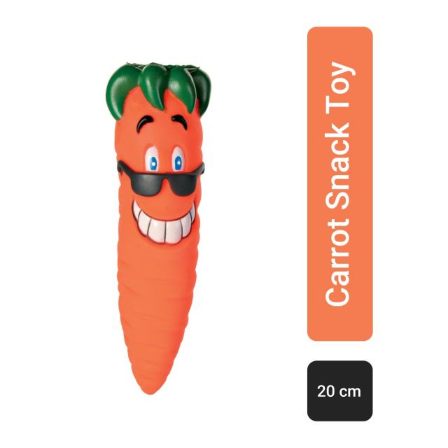Trixie Carrot Snack-Toy Vinyl Squeaky Dog Toy - 20 cm