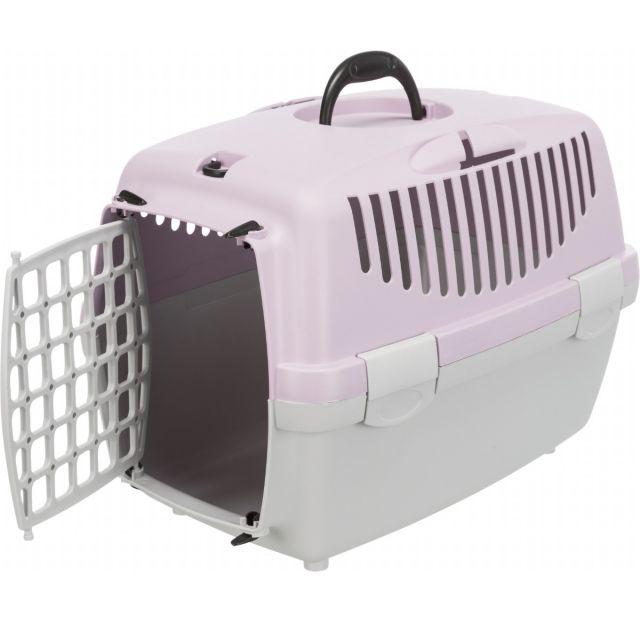 Trixie Capri 1 Transport Box (LxBxH - 48.26x33.02x30.48 cm), light grey/light lilac NEW