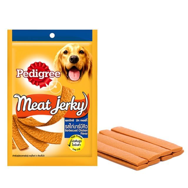 Pedigree Meat Jerky Barbecued Chicken Adult Dog Treat - 80 gm