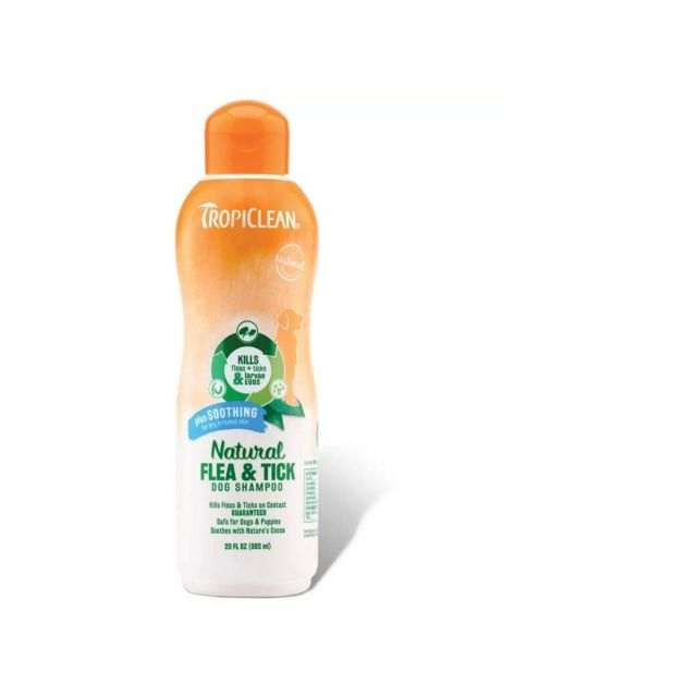 Tropiclean Natural Flea & Tick Plus Soothing Dog Shampoo - 355 ml