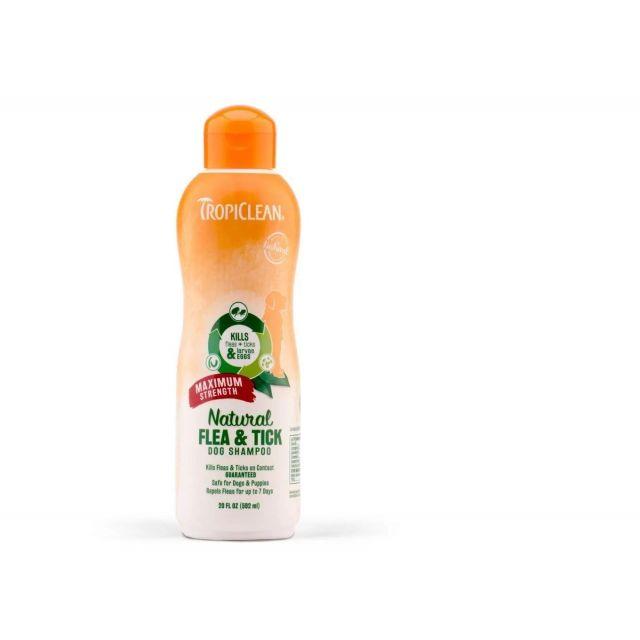 Tropiclean Natural Flea & Tick Maximum Strength Dog Shampoo - 355 ml