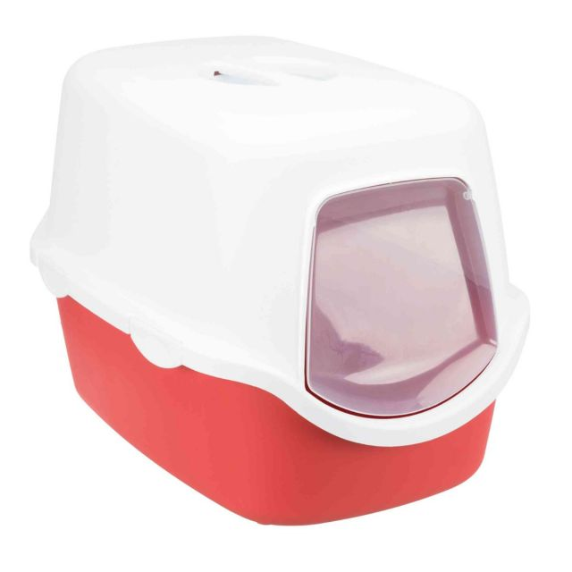 Trixie Vico Cat Litter Tray with Dome, 23x16x16 inch, Bordeaux