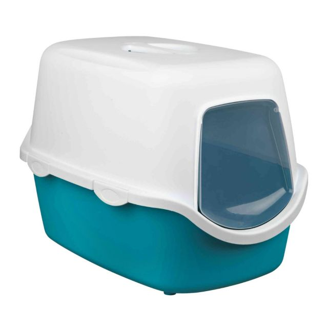 Trixie Vico Cat Litter Tray p[with Dome, 23x16x16 inch, Turquoise