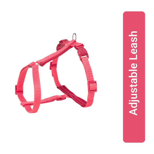 Trixie Cat Harness with Leash Premium Coral 25