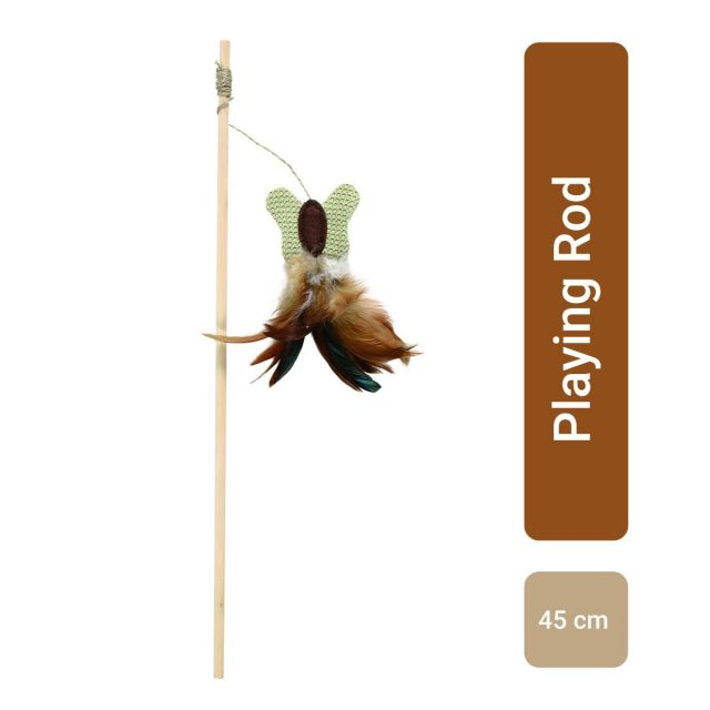 Trixie Playing rod with butterfly, 45 cm NEW
