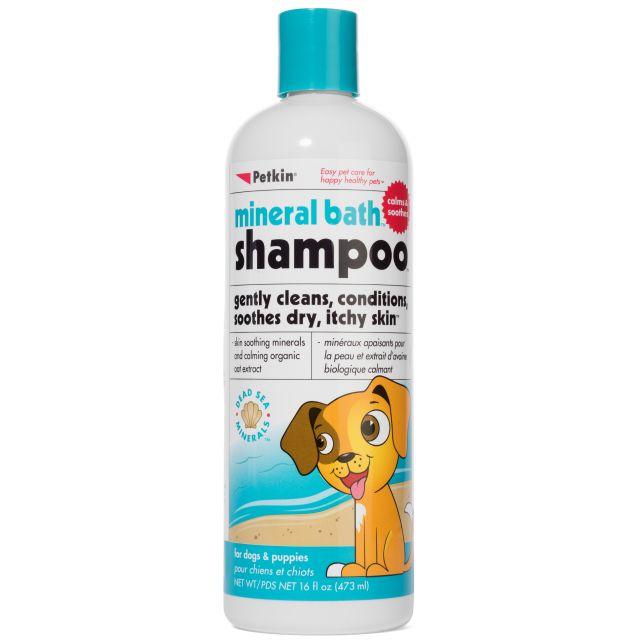 Petkin Mineral Bath Dog Shampoo - 473 ml