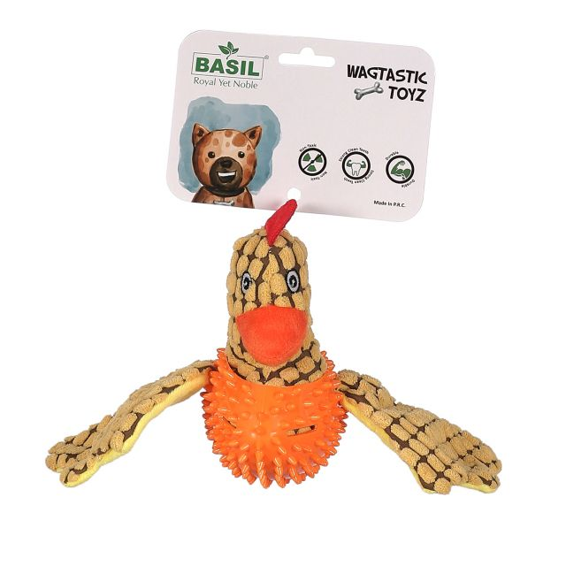 Basil Bird Plush with Durian TPR Interactive Toy