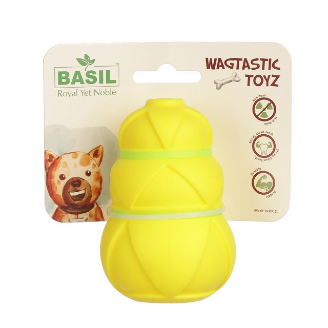 Basil Rubber Treat Dropper Interactive Toy