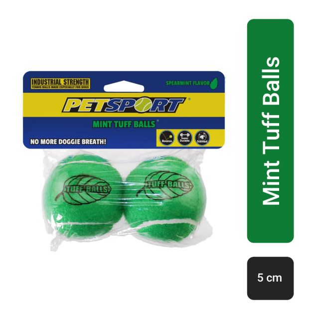 Petsport Junior Mint Tuff Balls Dog Toy - 5 cm