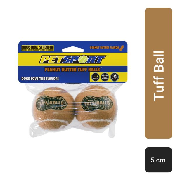 Petsport Junior Peanut Butter Tuff Balls Dog Toy - 5 cm