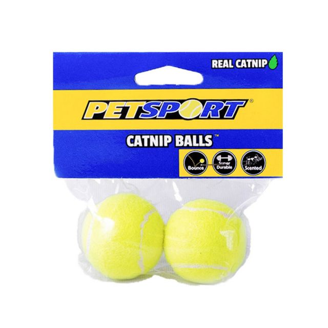 Petsport Catnip Balls 2 PK, 4 cm