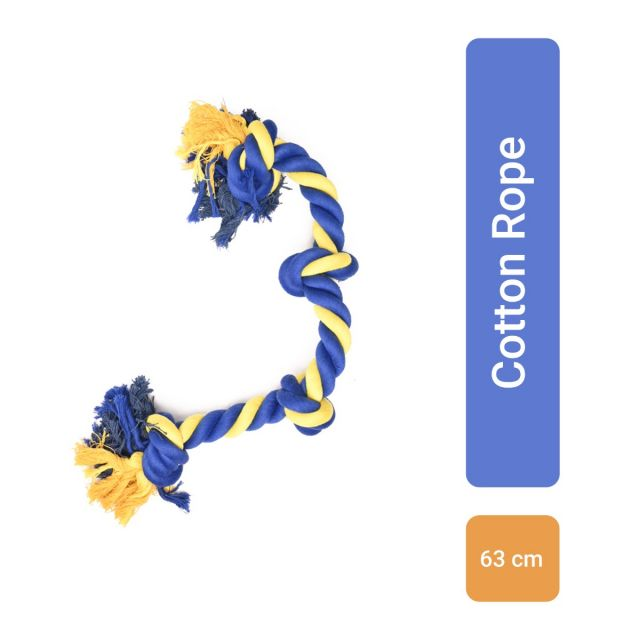 Petsport Large Four Knot Cotton Rope Dog Toy - 63 cm