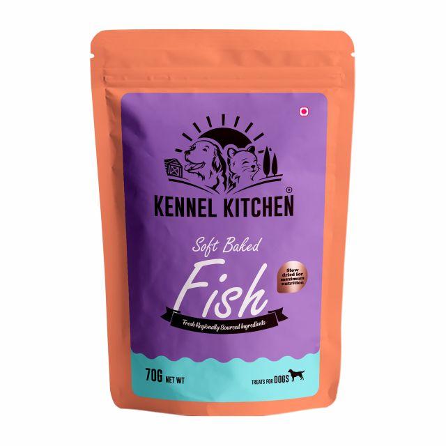 Kennel Kitchen Soft baked Fish Stick Dog Treat - 70 gm