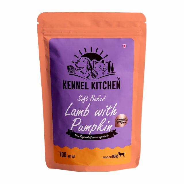Kennel Kitchen Soft Lamb with Pumpkin Stick Dog Treat - 70 gm