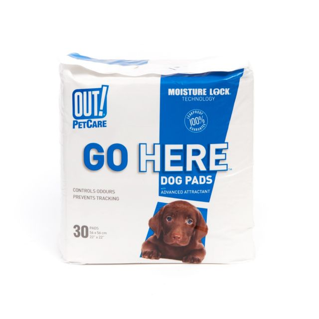 Out Pet Care Moisture Lock Training Pads, Pack of 30 Pads, 20 x 22 inch