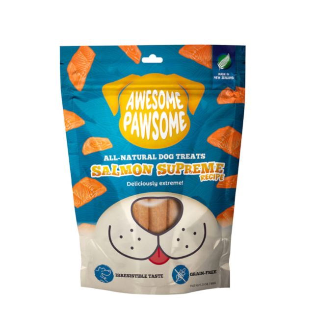 Awesome Pawsome Salmon Supreme Recipe All-Natural Grain-Free Dog Treat - 85 gm