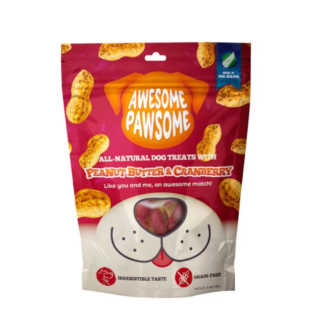 Awesome Pawsome Peanut Butter & Cranberry All -Natural Grain Free Dog Treat
