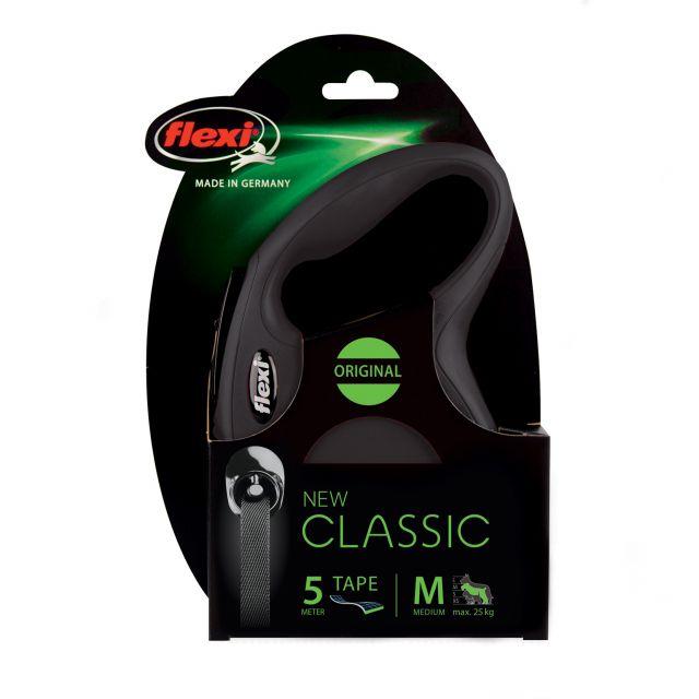 Flexi New Classic Tape 5m, Medium, Black