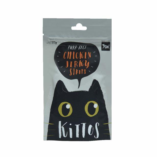 Kittos Chicken Jerky Strips Cat Treat, 35 gm