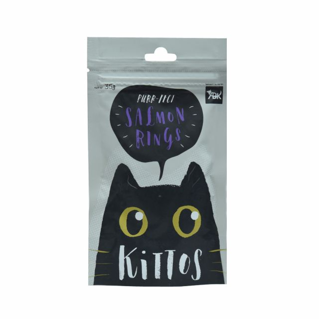 Kittos Salmon Rings Cat Treat, 35 gm