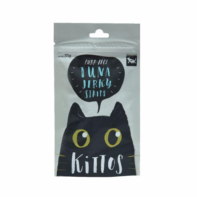 Kittos Tuna Jerky Strips Cat Treat, 35 gm