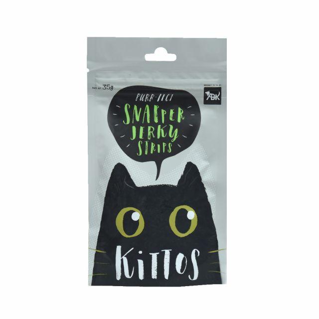 Kittos Snapper Jerky Strips Cat Treat, 35 gm