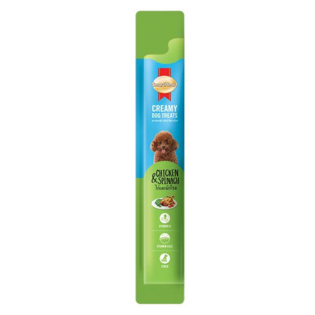 SmartHeart Chicken & Spinach Creamy Dog Treat - 15 gm (Pack Of 4)