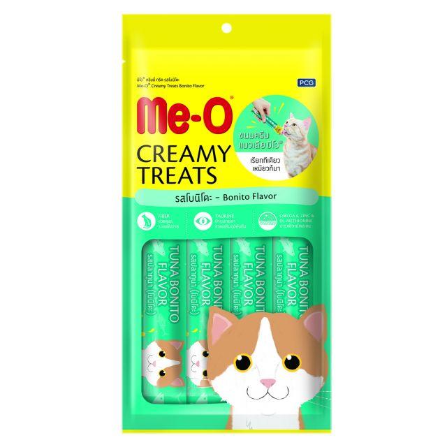 Me-O Bonito Flavor Creamy Cat Treat 15 gm (Pack Of 4)