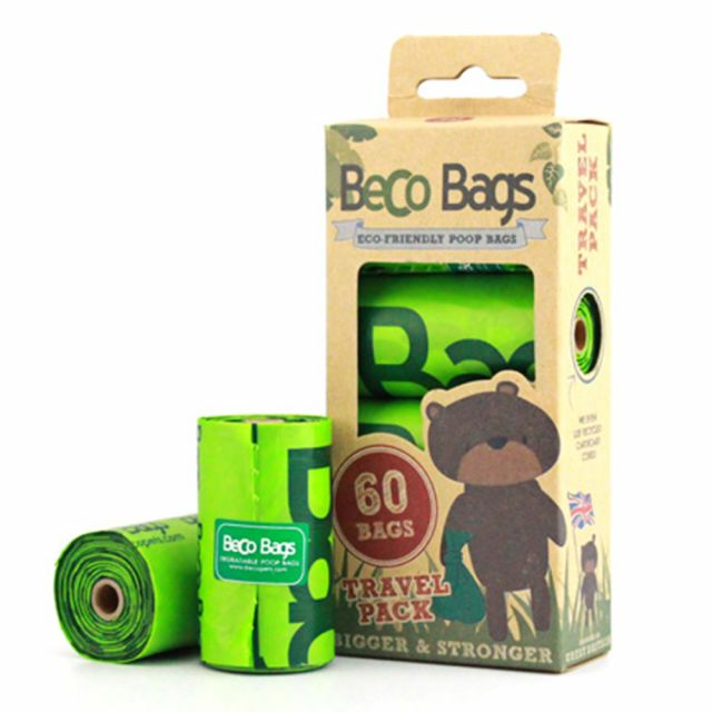 Beco Poop Bags (Degradable Unscented Without Handles) -60 bags