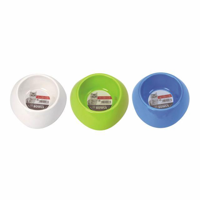 M- Pets Dog Single Fashion Diner Bowl  (Melamine) - White
