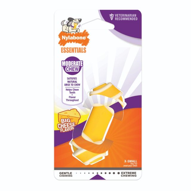 Nylabone Cheese Flavoured Knot Moderate Chew Toy