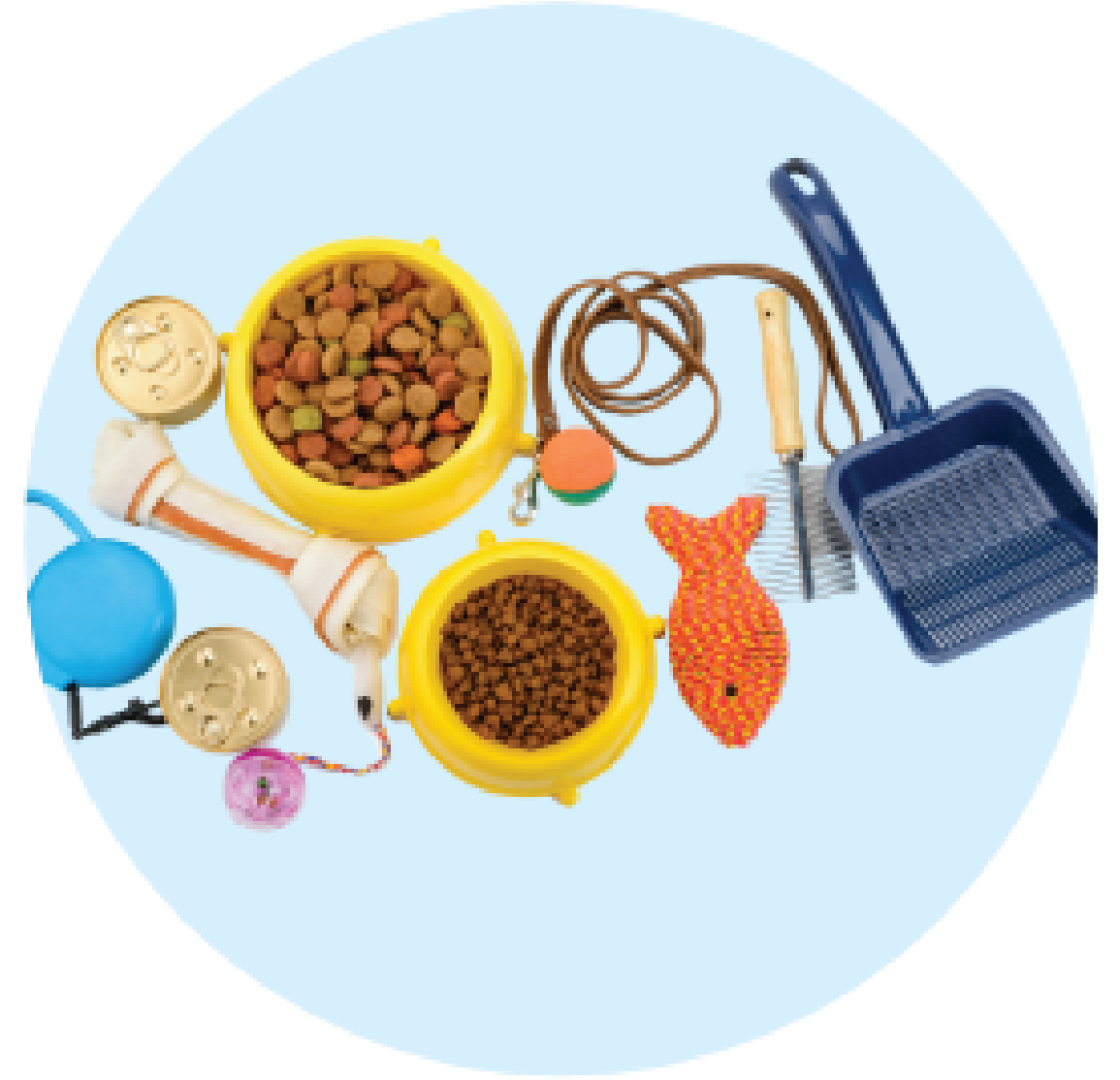 A wide variety of tested pet products